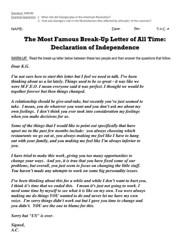 6 break up letter templates  free templates in doc ppt