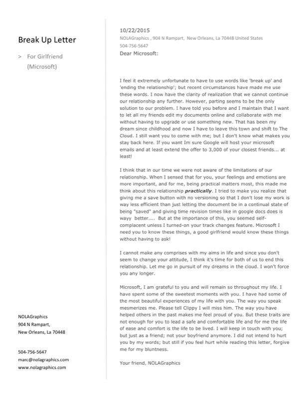 Break Up Letter To Boyfriend 1
