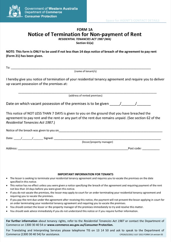 Contract Termination Letter Due To Nonpayment