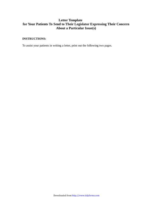 General Letter Template 3