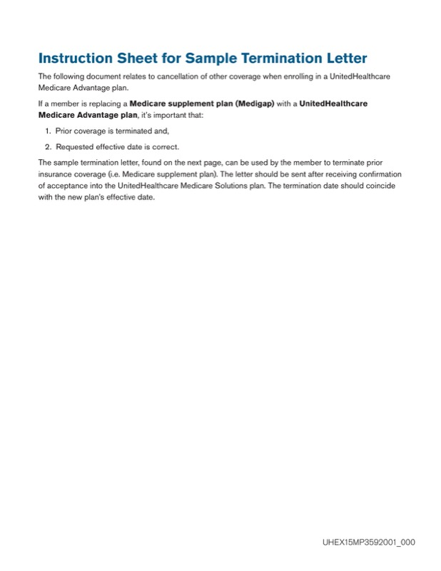 Insurance Termination Letter