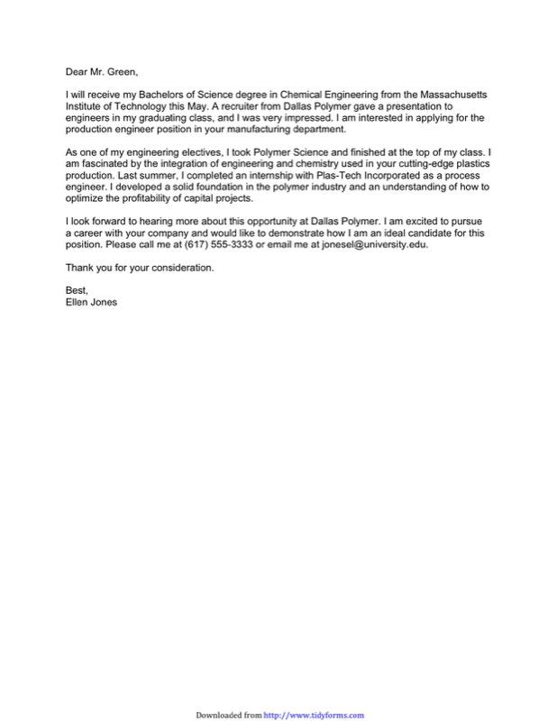Interest Letter from Student