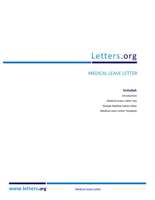 Medical Check Up Leave Letter