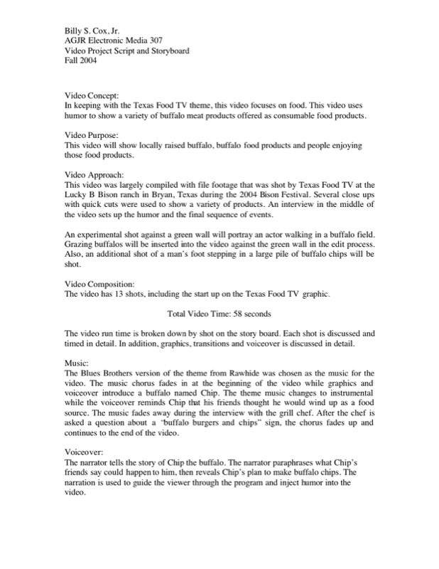 Movie Script Writing Template Example