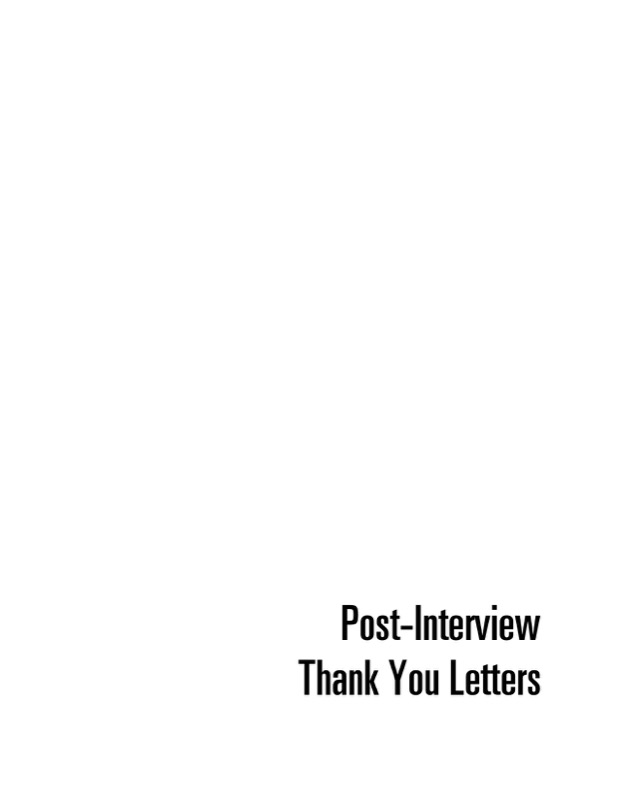 Post Interview Thank You Letter Writing Example