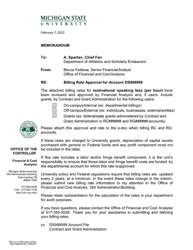 Sample Approval Form Letter