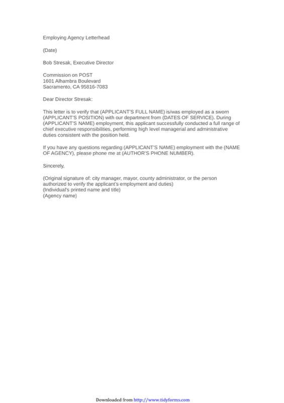 employment verification letter sample 3 sample employment verification letter templates free 21509 | sample employment verification letter