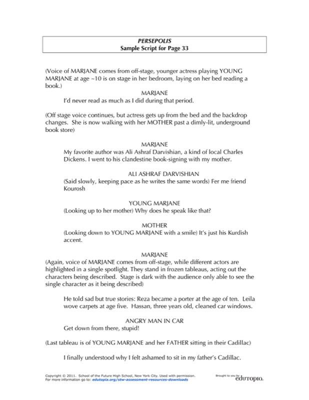 Sample Novel Script Writing Template