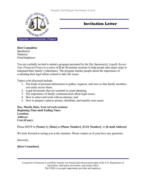 Sample Participant Invitation Letter