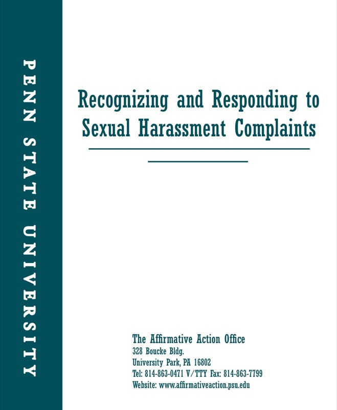 Sample Sexual Harassment In The Workplace Complaint Letter Pdf